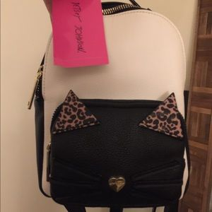 Betsey Johnson Kitty Cat mini Backpack NWT 😽